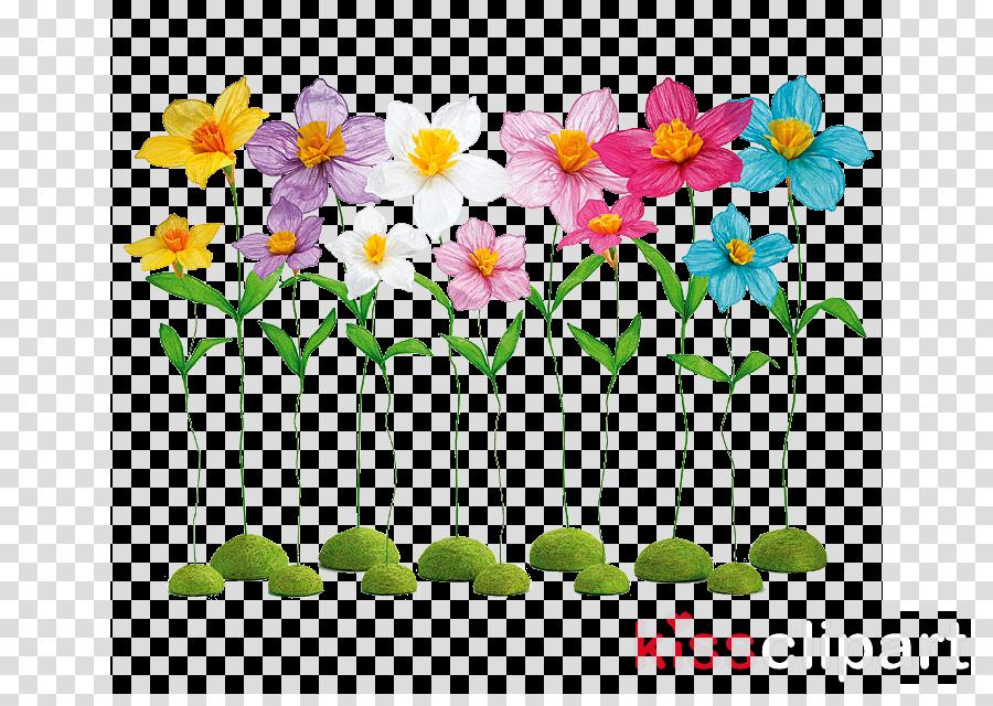 Floral Flower Background Clipart Spring Flower Plant Transparent Clip Art