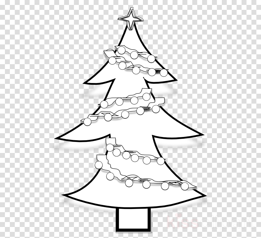 Christmas Day Drawing.Christmas Tree Line Drawing Clipart Drawing Holiday Tree