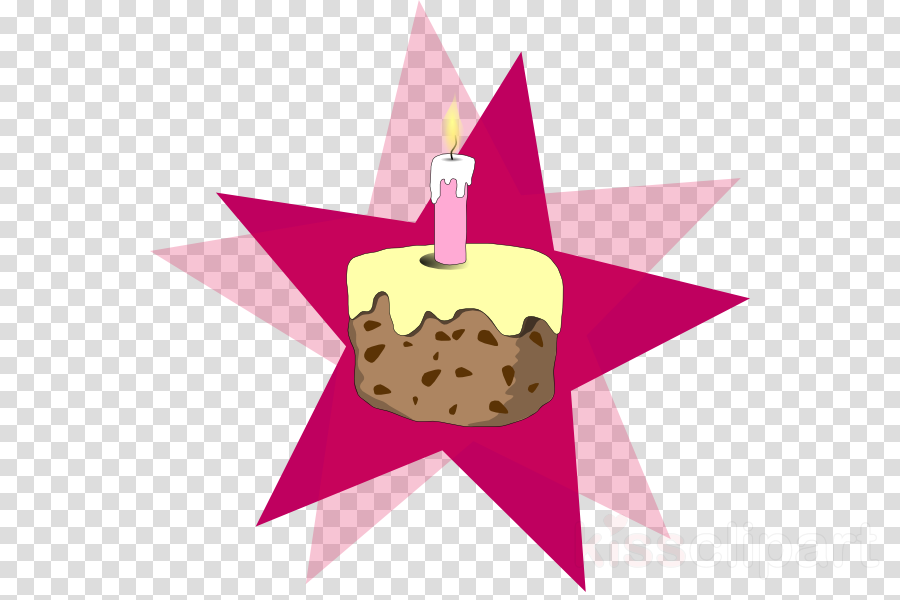 Cake With Candle Clipart Frosting Icing Cupcake Birthday