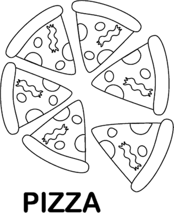 Book Black And White Clipart Pizza Food White
