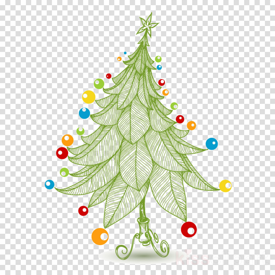 Christmas And New Year Background Clipart Cartoon Drawing Tree Transparent Clip Art