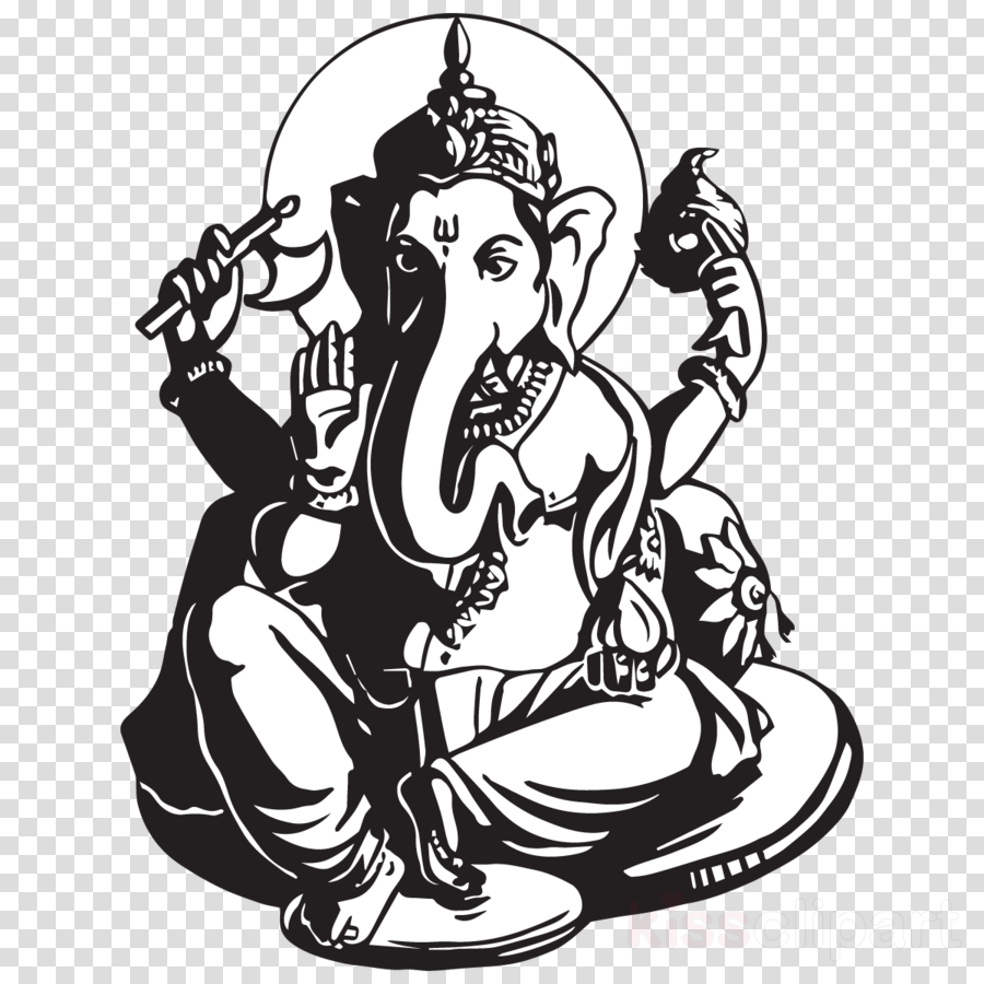 Ganesh Chaturthi Black And White