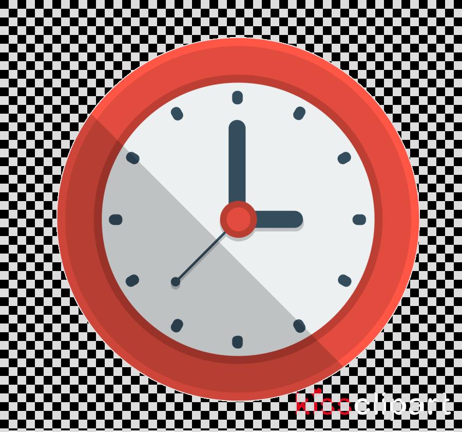 Clock Cartoon Clipart Illustration Red Clock Transparent Clip Art