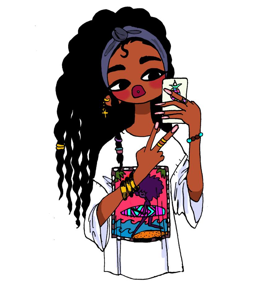 Black girl cartoon clipart drawing cartoon female