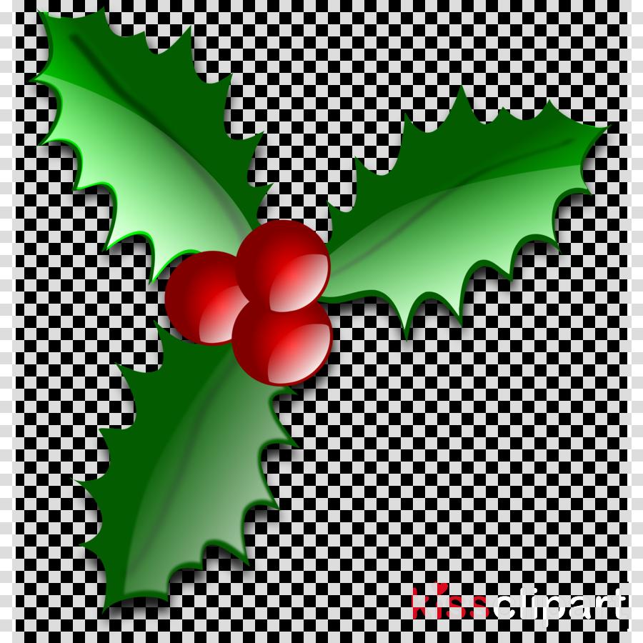 Christmas Holly Clipart Transparent.Christmas Holly Clipart Leaf Fruit Graphics Transparent