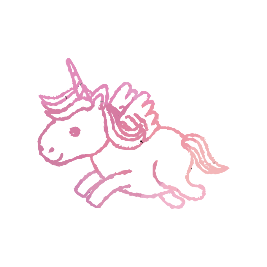 unicorn with wings clipart Royalty-free