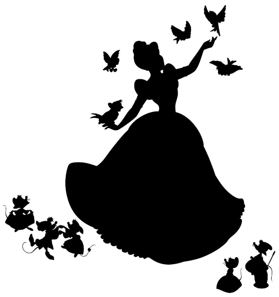 cinderella silhouette clipart Cinderella Clip art