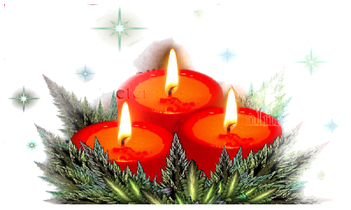 bougies noel clipart Candle Christmas Day Weihnachtskerze mit Teller
