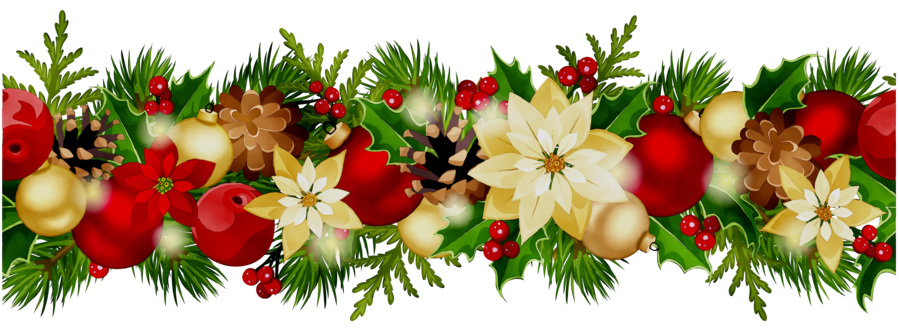 Wreath Flower Christmas Transparent Png Image Clipart Free Download