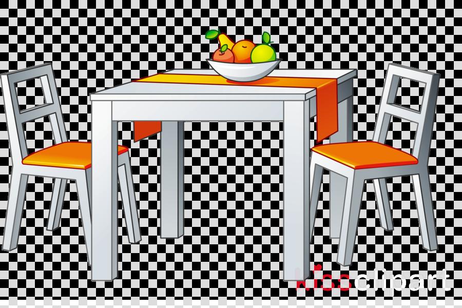 Kitchen Cartoon Clipart Table Furniture Kitchen Transparent Clip Art