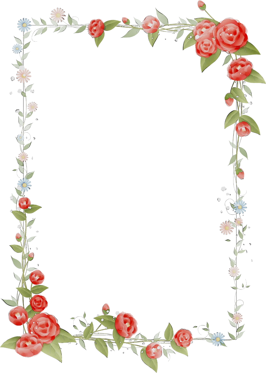 Heart Background Frame Clipart Flower Design Heart