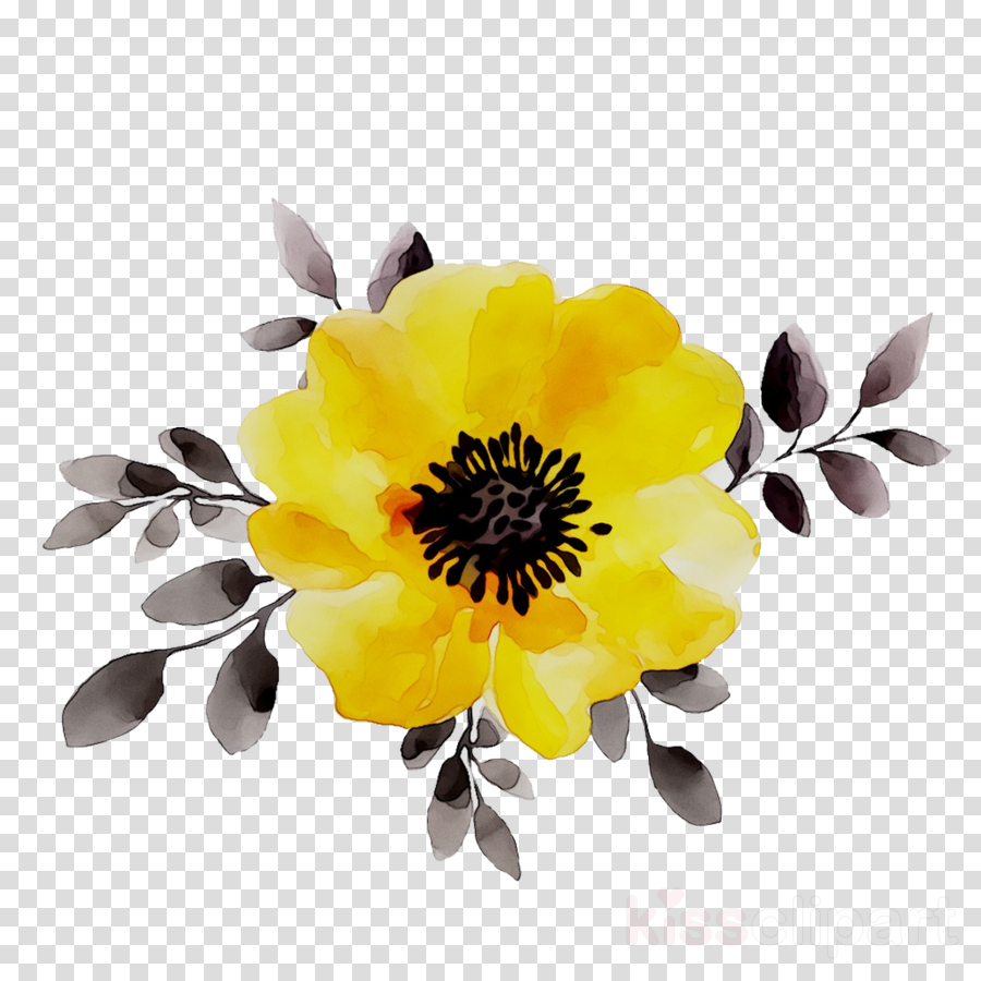 Yellow Flower Red Transparent Png Image Clipart Free Download