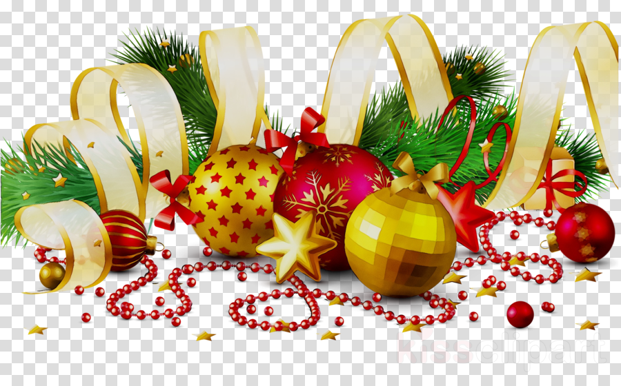 Christmas Decorations Clip Art Background