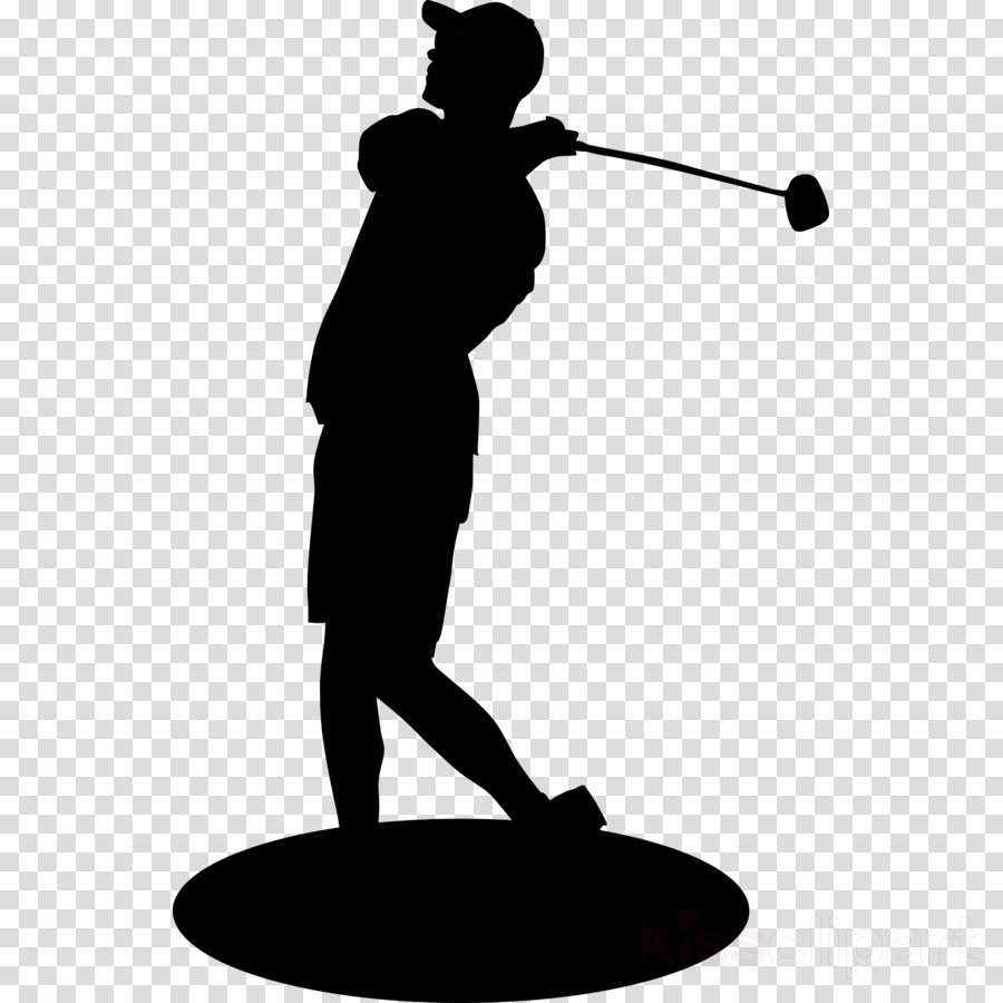 Golf illustration. Background clipart silhouette