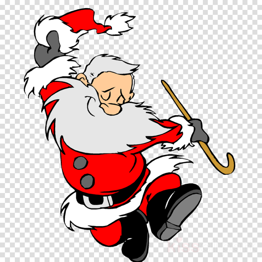 Christmas Dancing Santa.Christmas Poster Background Clipart Dance Holiday Art