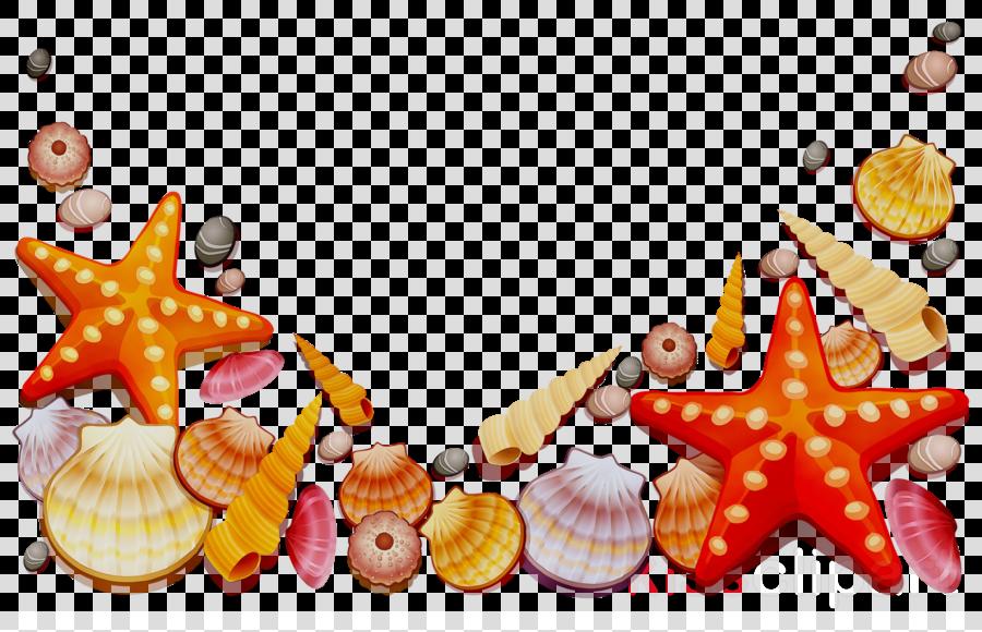 orange clipart Seashell Food Christmas ornament