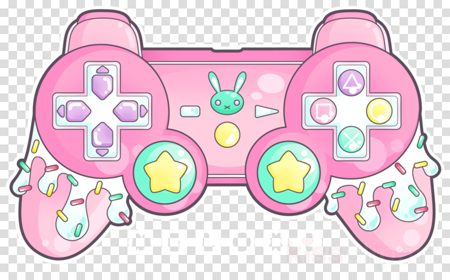 Xbox Controller Background Clipart Game Drawing Pink