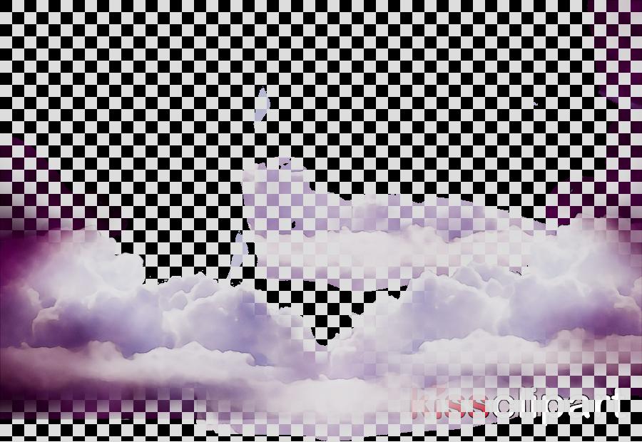Cloud Cartoon Clipart Sky Cloud Purple Transparent Clip Art