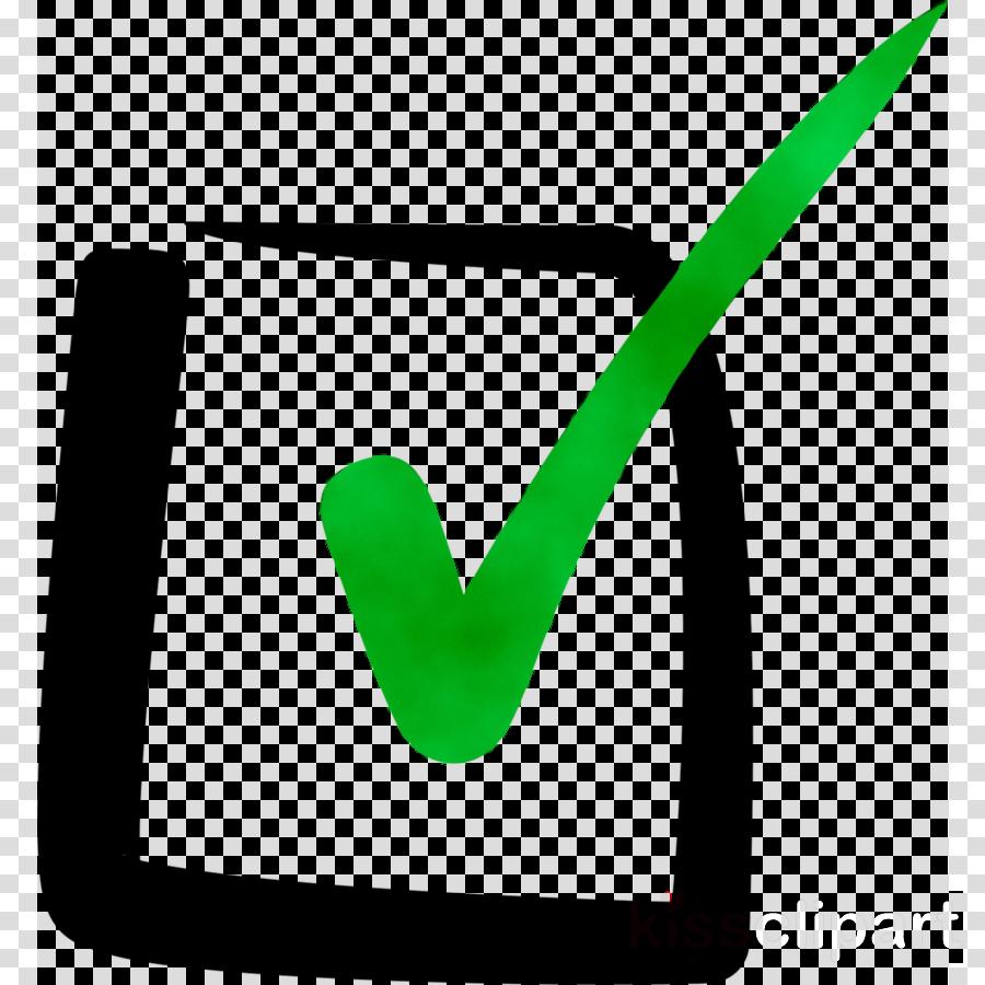 Green Check Mark Icon clipart - Checklist, Green, Line ...