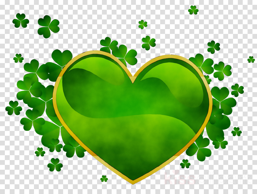 irish green heart clipart Saint Patrick's Day Shamrock Four-leaf clover