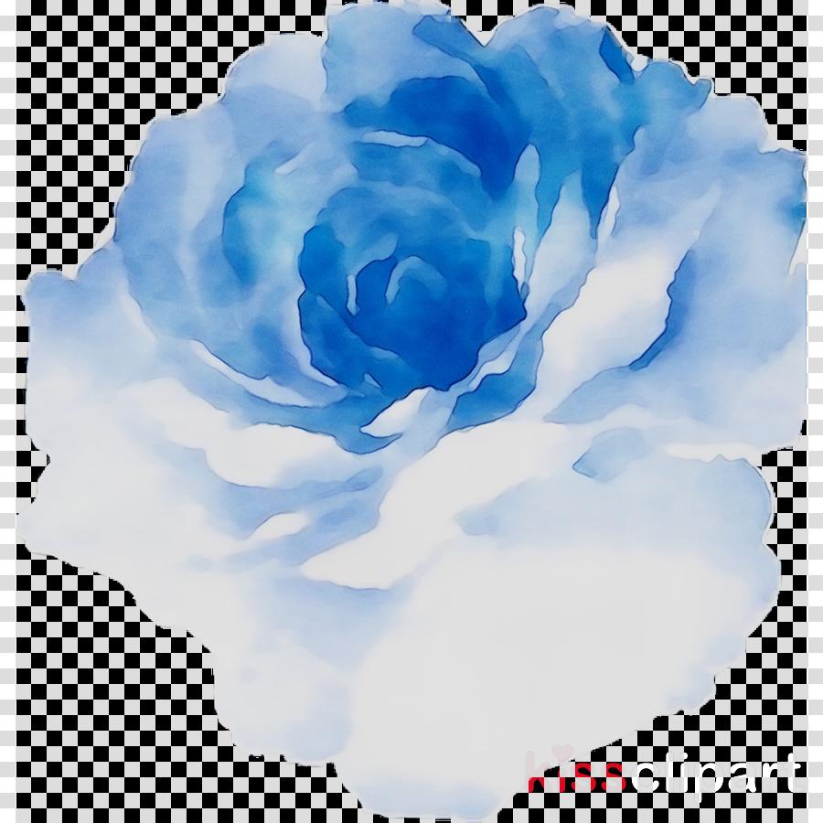 Blue Watercolor Flowers Clipart Blue Flower Painting