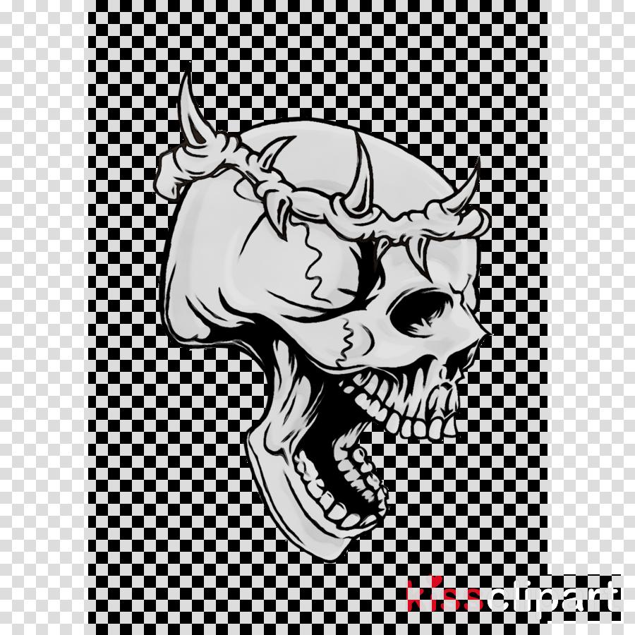 Skull Sketch Clipart Illustration Skull Art Transparent Clip Art