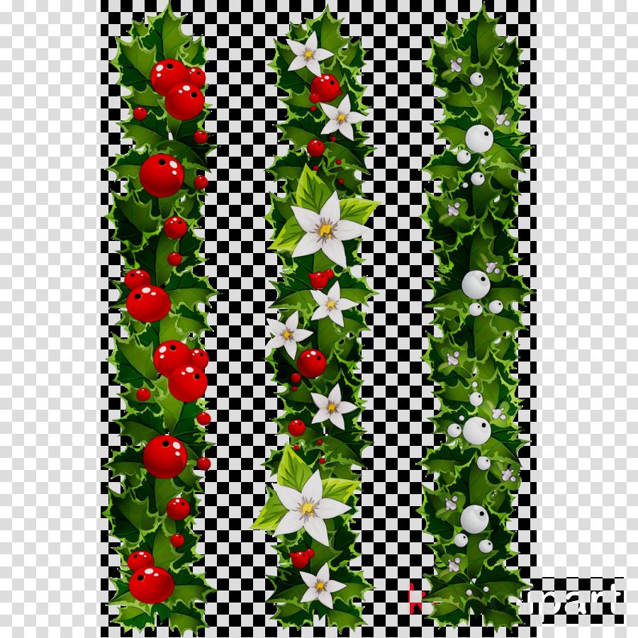 Mistletoe Christmas Clipart Illustration Graphics Flower Transparent Clip Art