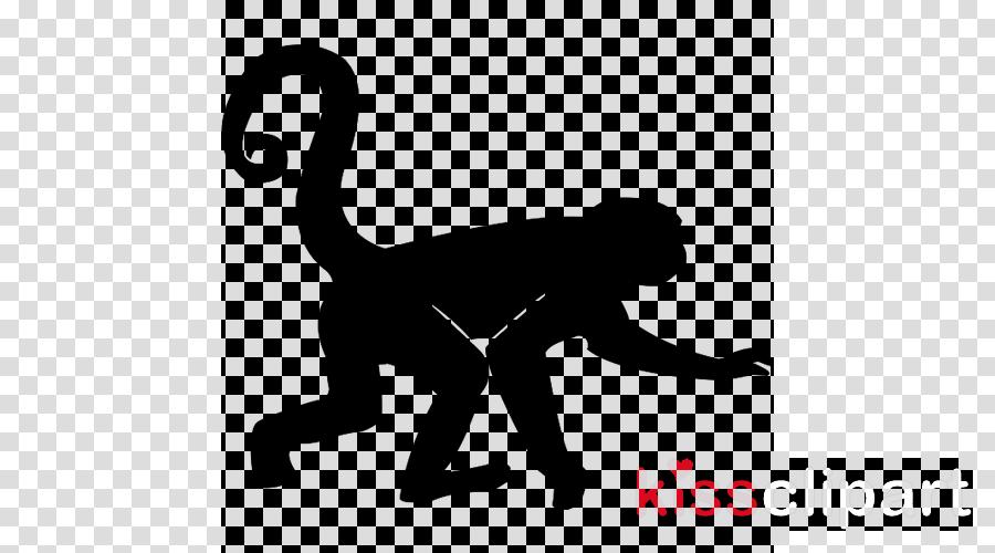 Monkey Cartoon Clipart Cat Silhouette Wildlife Transparent Clip Art