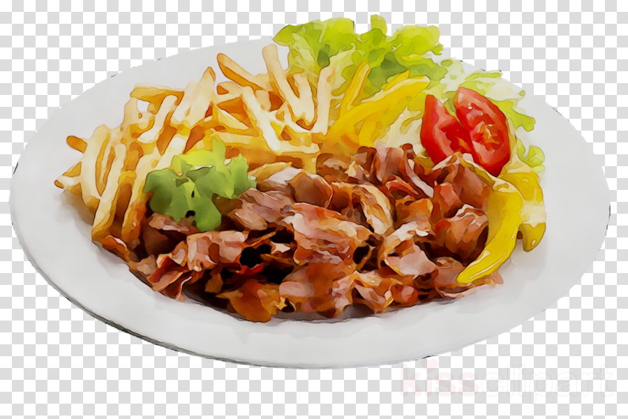 doner on plate clipart Doner kebab Shawarma