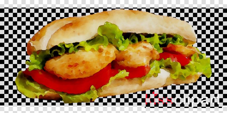 fast food clipart Salmon burger Hamburger Cheeseburger