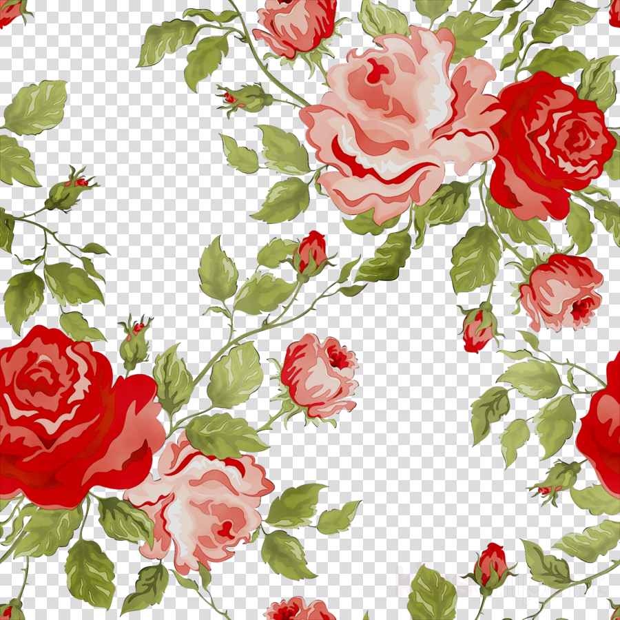 Floral Pattern Background Clipart Flower Red Pattern