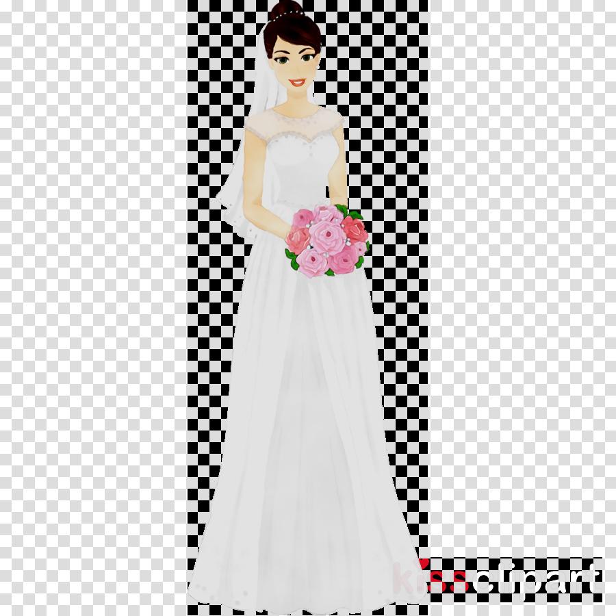 Wedding Dress Flower Girl Clip Art