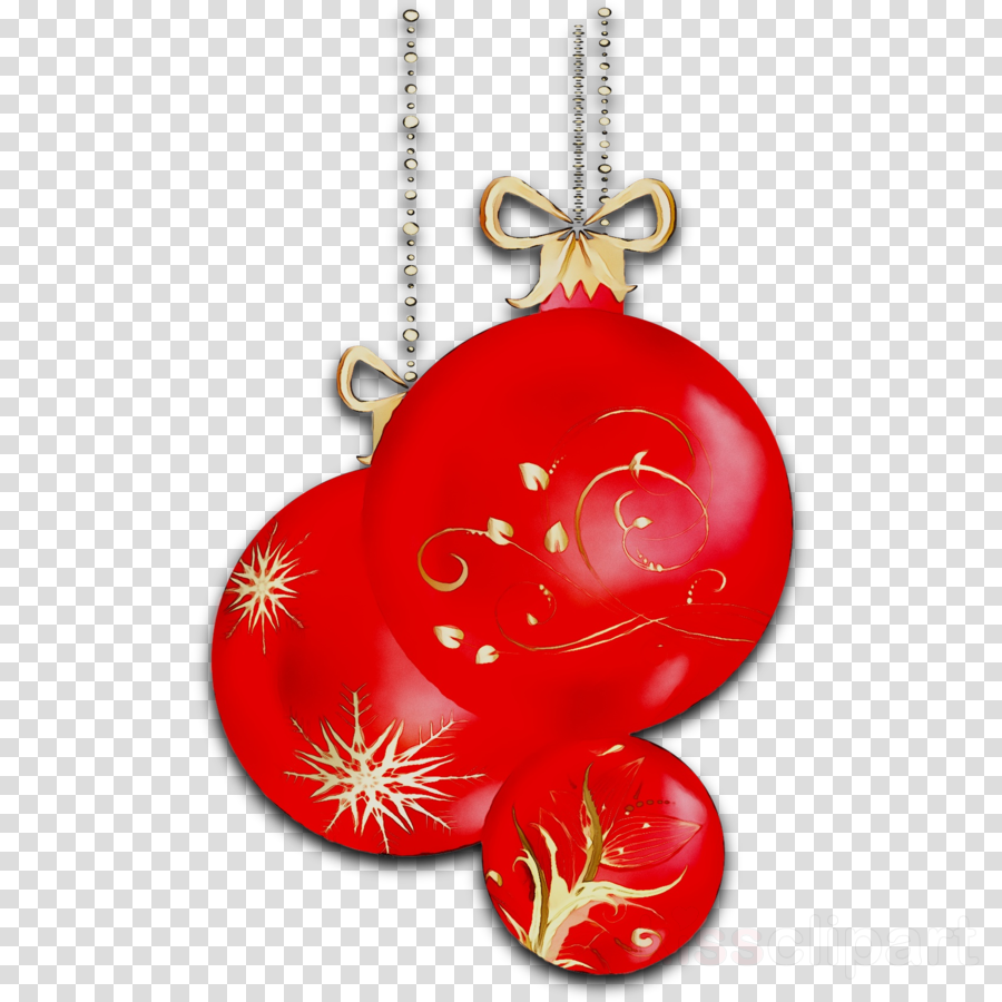 Christmas Chain Clipart.Red Christmas Ornament Clipart Red Ornament Heart