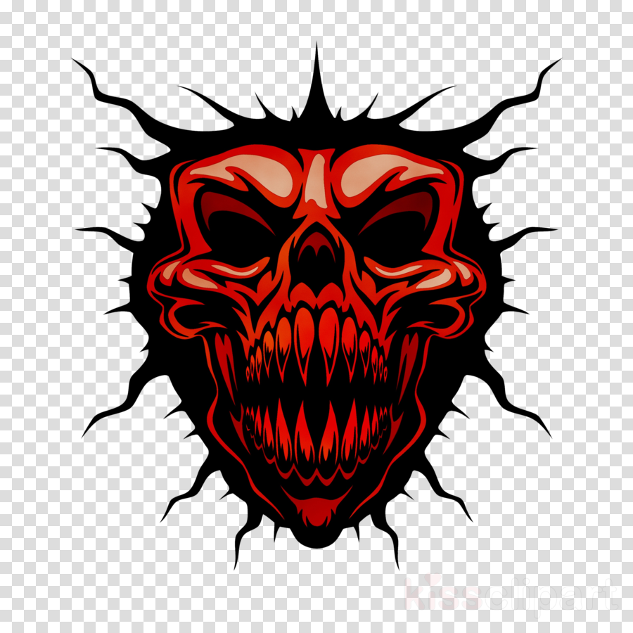 Skull devil vector clipart royalty free