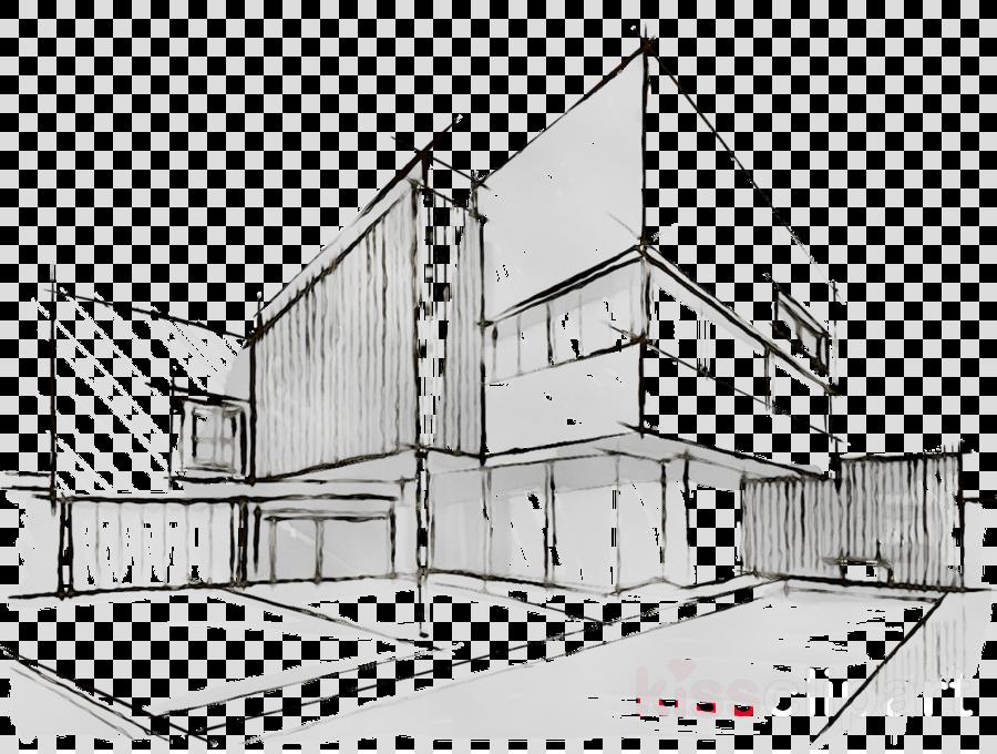 Building Cartoon Clipart Sketch Architecture House Transparent Clip Art