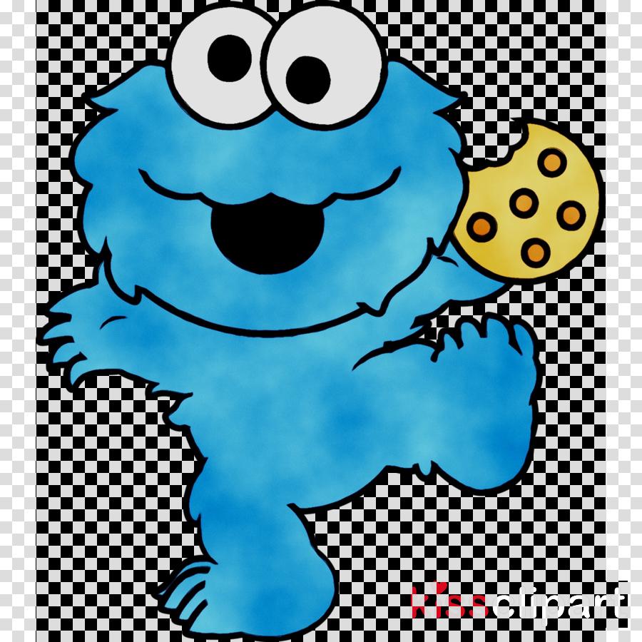 Happy Birthday Blue Clipart Elmo Monster Cartoon