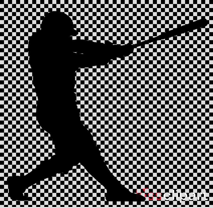 Bat Cartoon Clipart Silhouette Baseball Transparent Clip Art