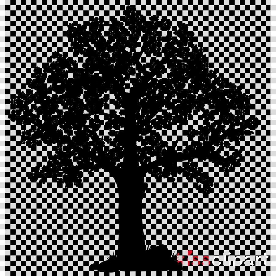 Oak Tree Silhouette