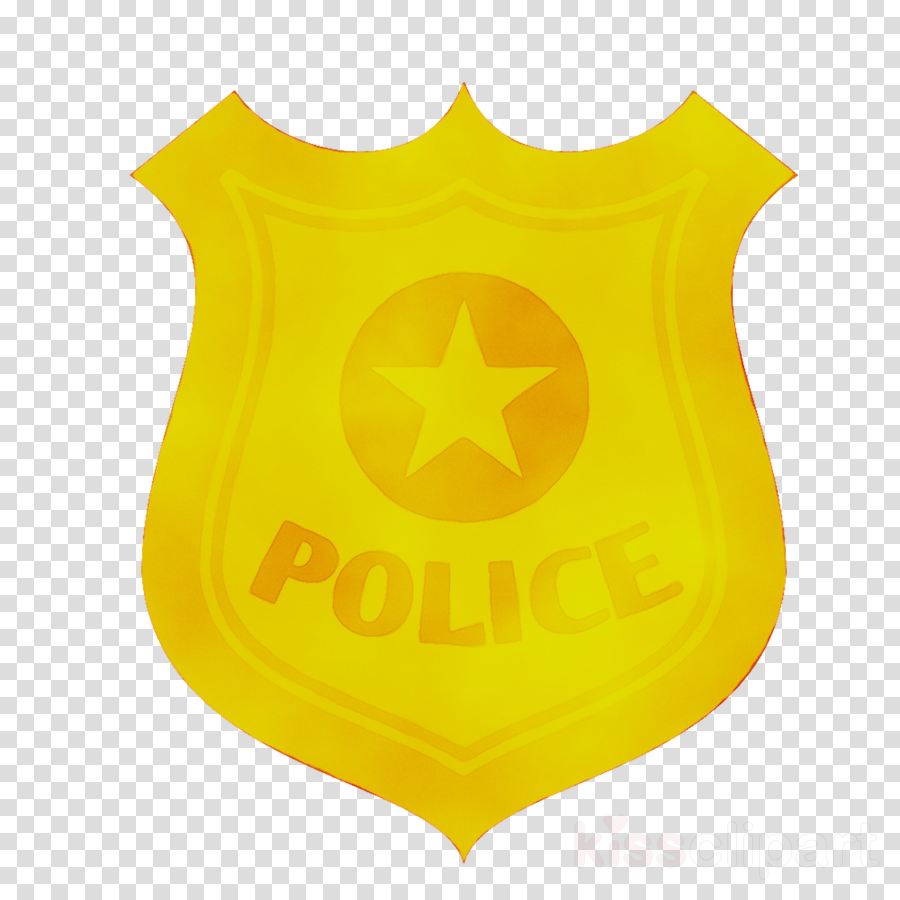 Police badge yellow. Officer cartoontransparent png image