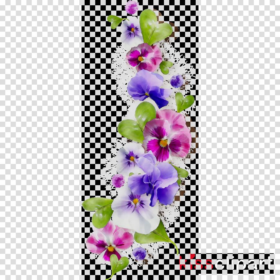 Purple Watercolor Flower