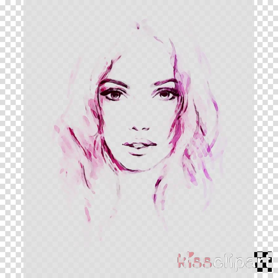 Watercolor Sketch Clipart Nose Face Hair Transparent Clip Art