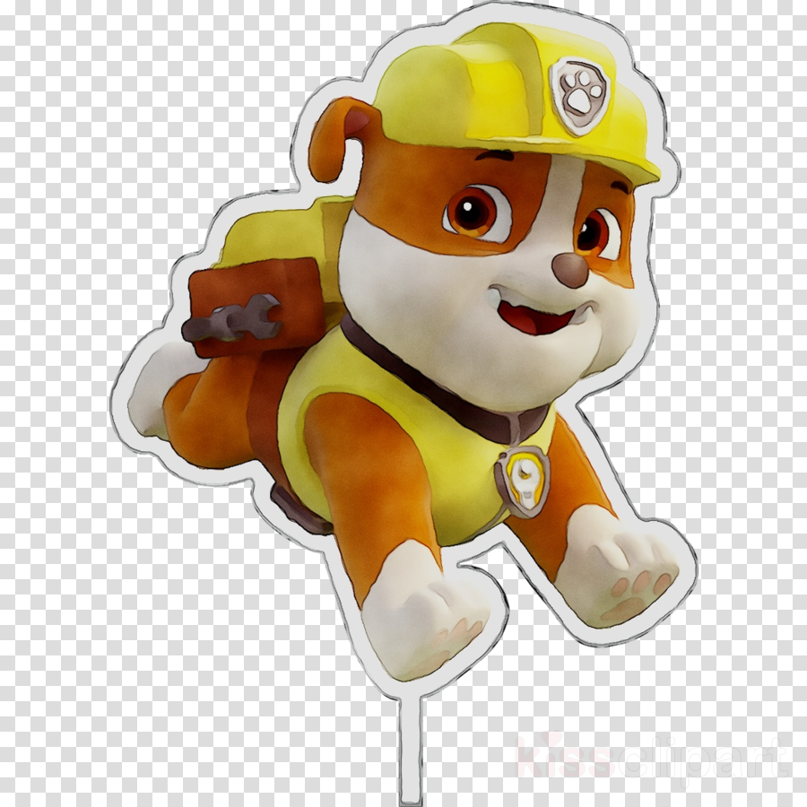 Paw patrol rubble. Clipart dog cartoon transparent