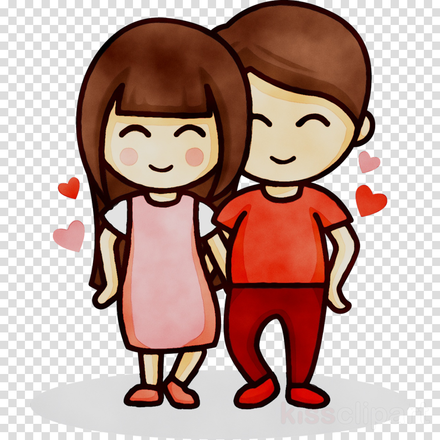 Couple Love Cartoon Clipart Drawing Love Illustration Transparent Clip Art