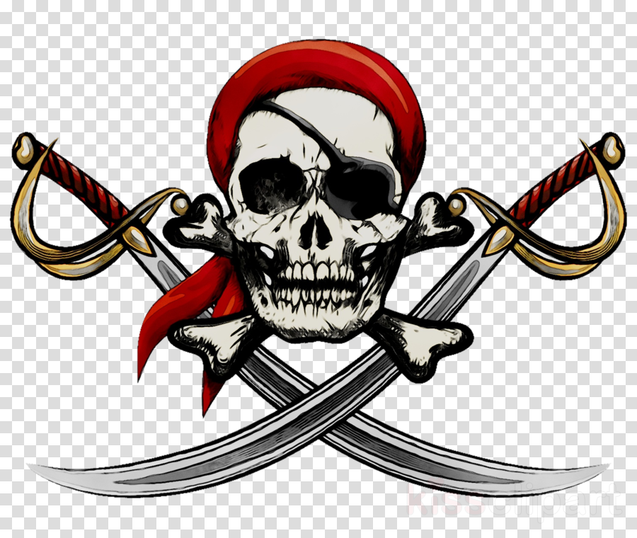 Illustration clipart Jolly Roger Piracy