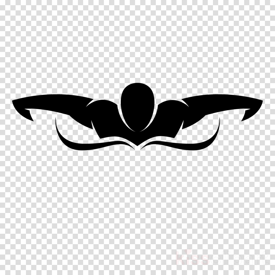Swimming Cartoon Clipart Swimming Silhouette Emblem Transparent Clip Art