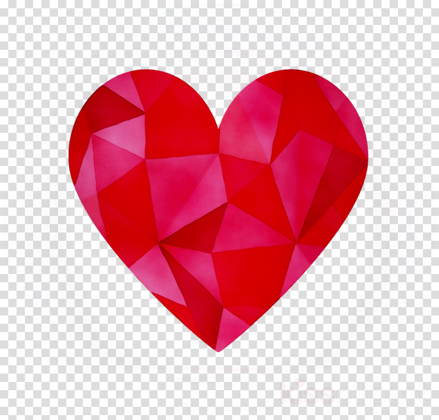 heart clipart Low poly 3D modeling
