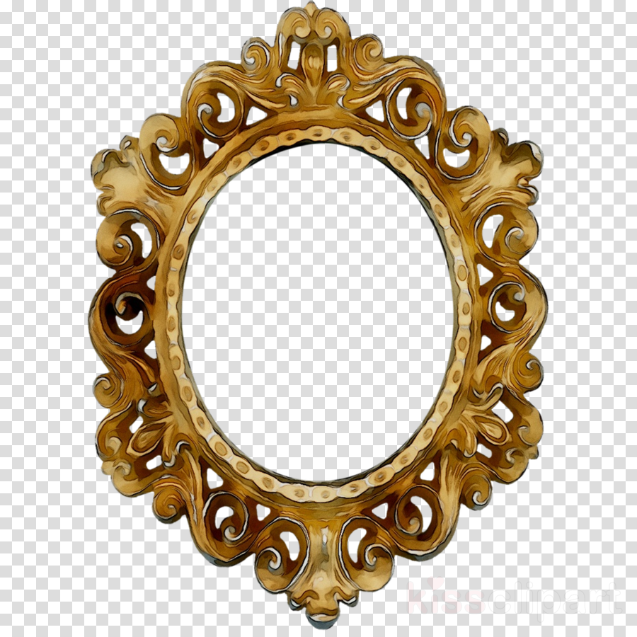 Wood Frame Frame Clipart Mirror Ornament Design Transparent Clip Art