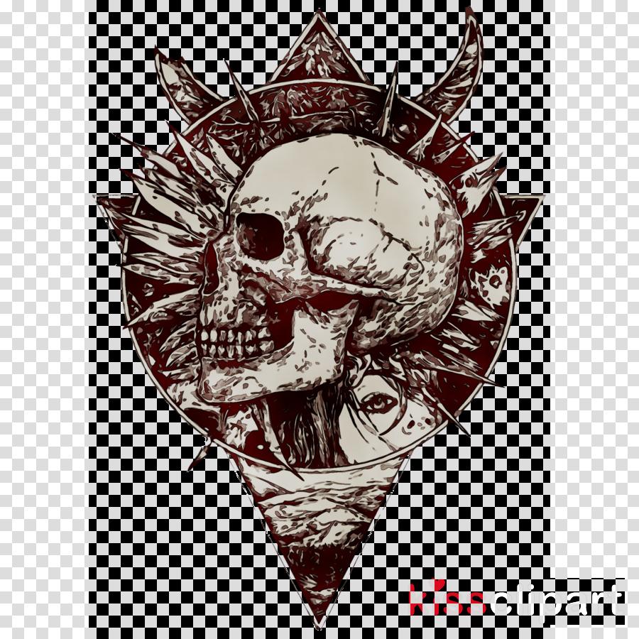 Skull Sketch Clipart Skull Illustration Drawing Transparent Clip Art