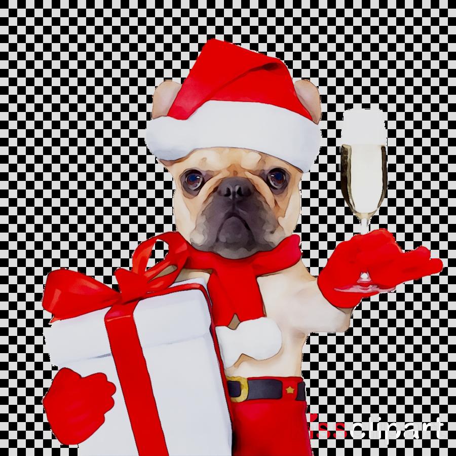 French Bulldog Christmas Jumper.Christmas Jumper Cartoon Clipart Puppy Bulldog Dog
