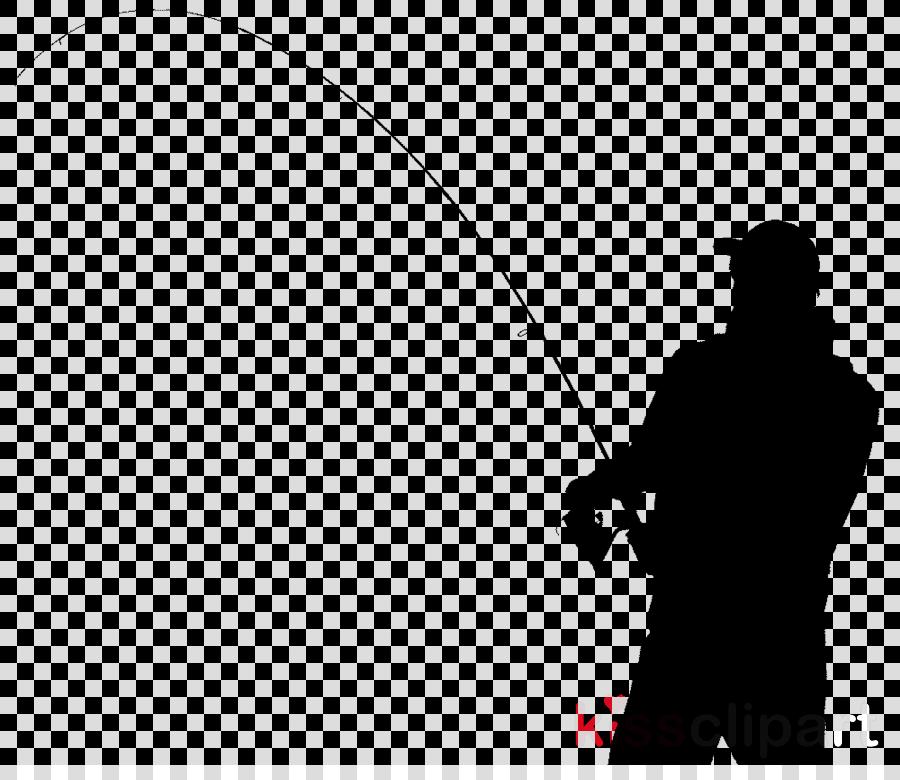 White Background Clipart Fishing White Silhouette Transparent Clip Art